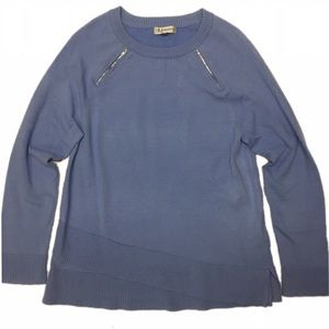 Neiman Marcus Sky Blue Long Sleeve Sweater SZ M